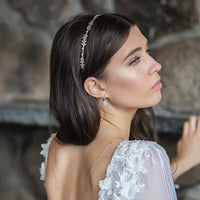 Monet Leaf Crystal Headband - Amy O. Bridal