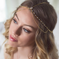 Cleo Crystal Tiered Headpiece - Amy O. Bridal