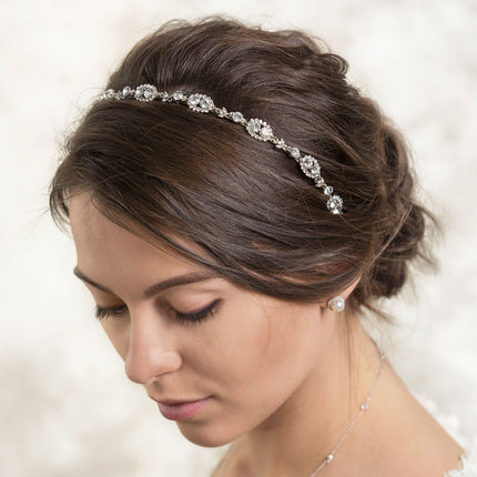 Jules Swarovski Headband with Ribbon