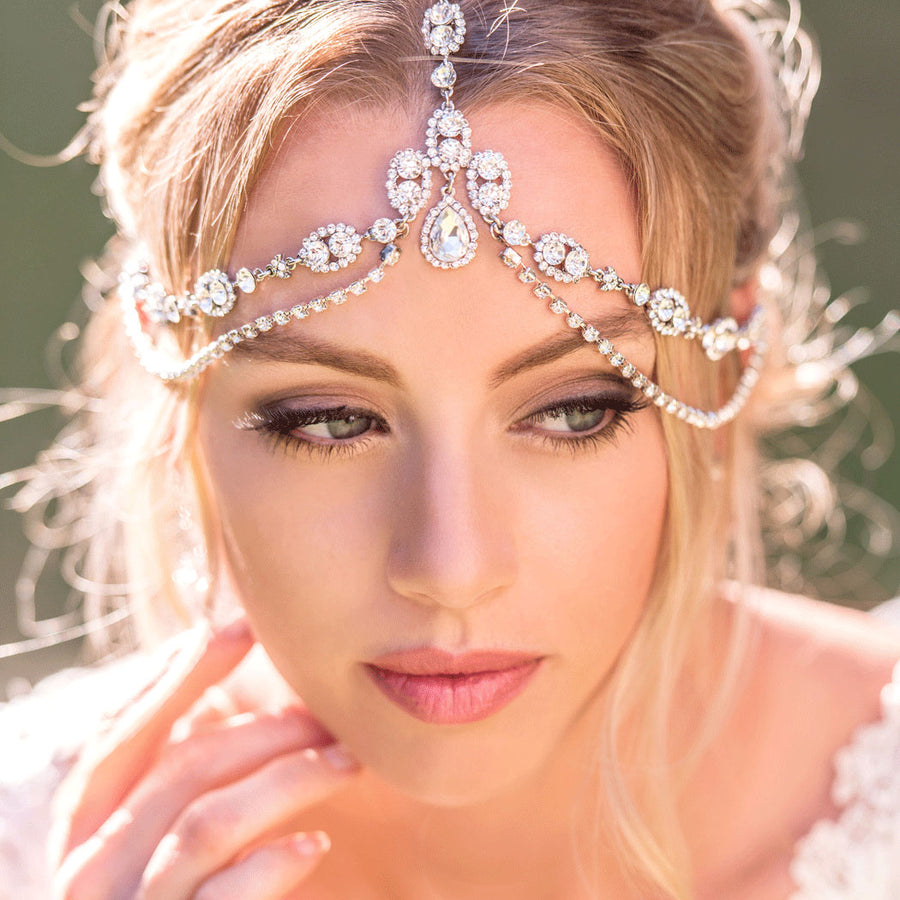 Jules Tiered Crystal Headpiece