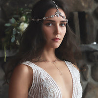 Perla Crystal Y Lariat Necklace - Amy O. Bridal