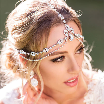 Jules Tiered Swarovski Crystal Headpiece