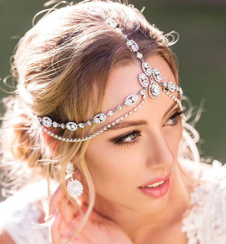 Cleo Swarovski Tiered Headpiece