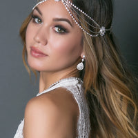 Emilia Crystal Headpiece - Amy O. Bridal