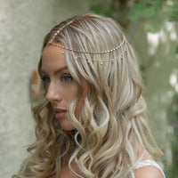 Dakota Crystal Chain Headpiece