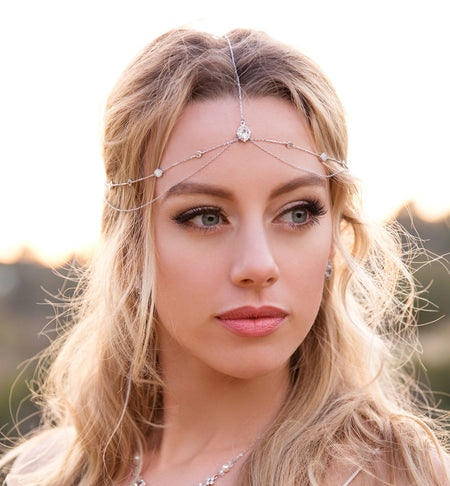 Dakota Circlet Drops Headpiece - Amy O. Bridal