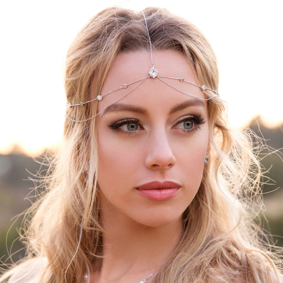 Cleo Circle Drop Headpiece - Amy O. Bridal