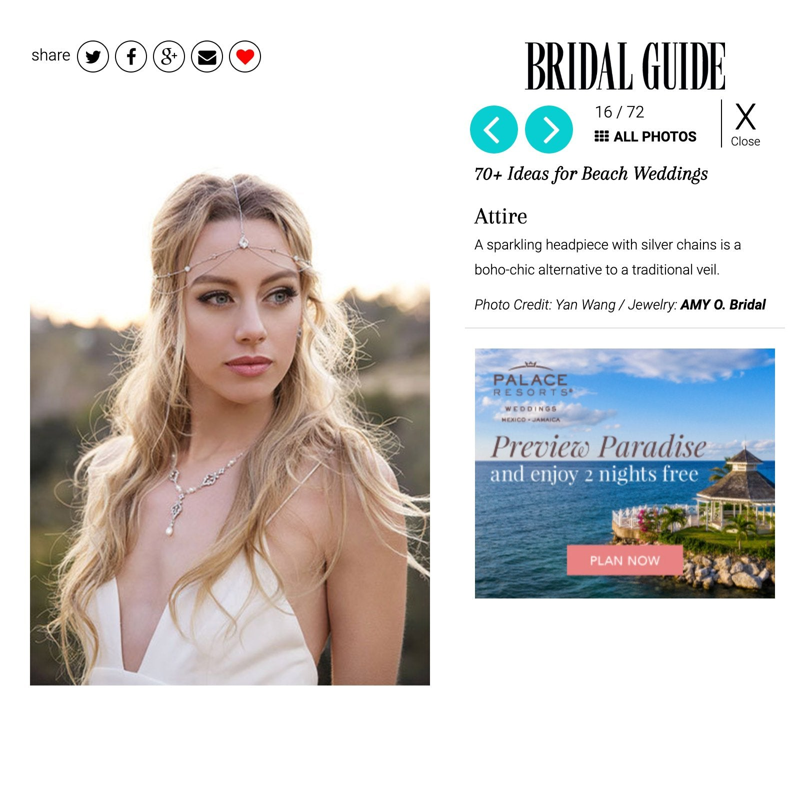caption: Featured on Bridal Guide
