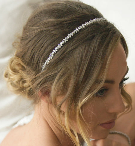 Boho Silver Enchanted Leaf Headband