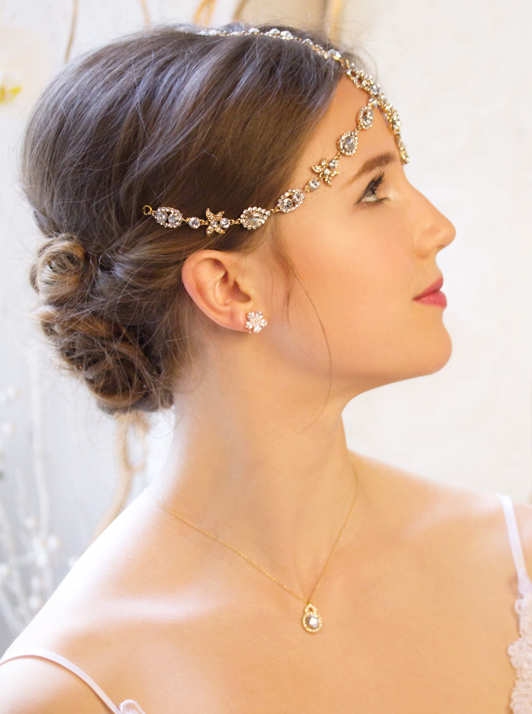 Jules Swarovski Tikka Headpiece - Amy O. Bridal