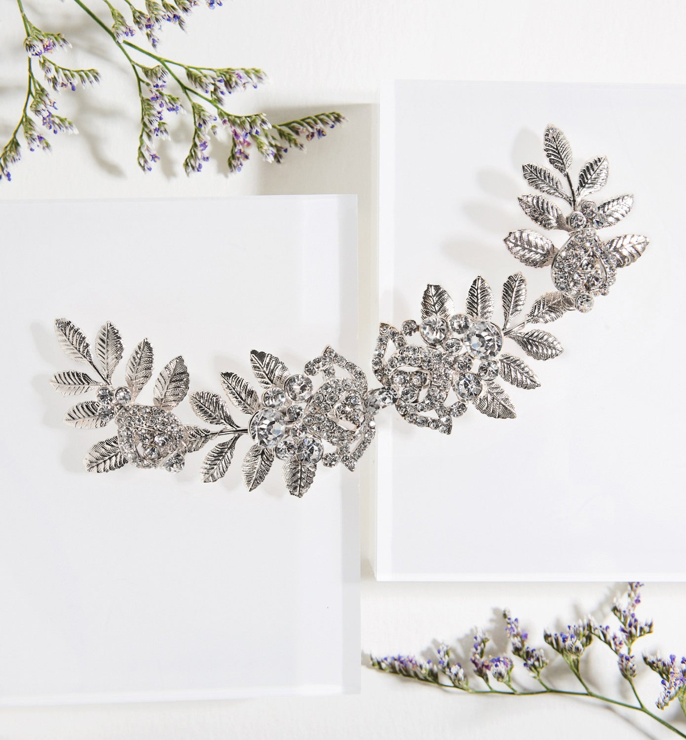 Naya Floral Hair Comb - Amy O. Bridal