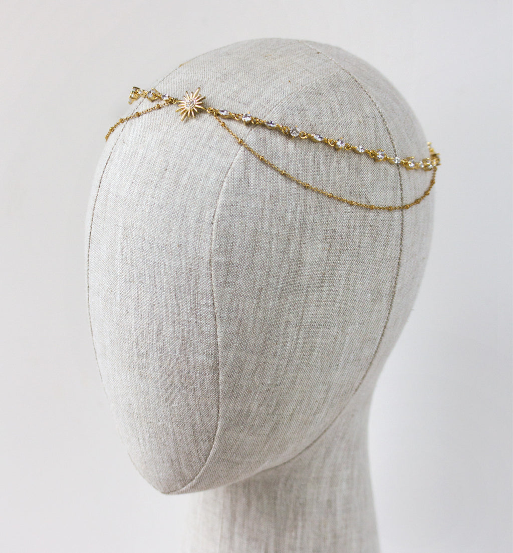 Grecian Gold Star Headpiece - Amy O. Bridal