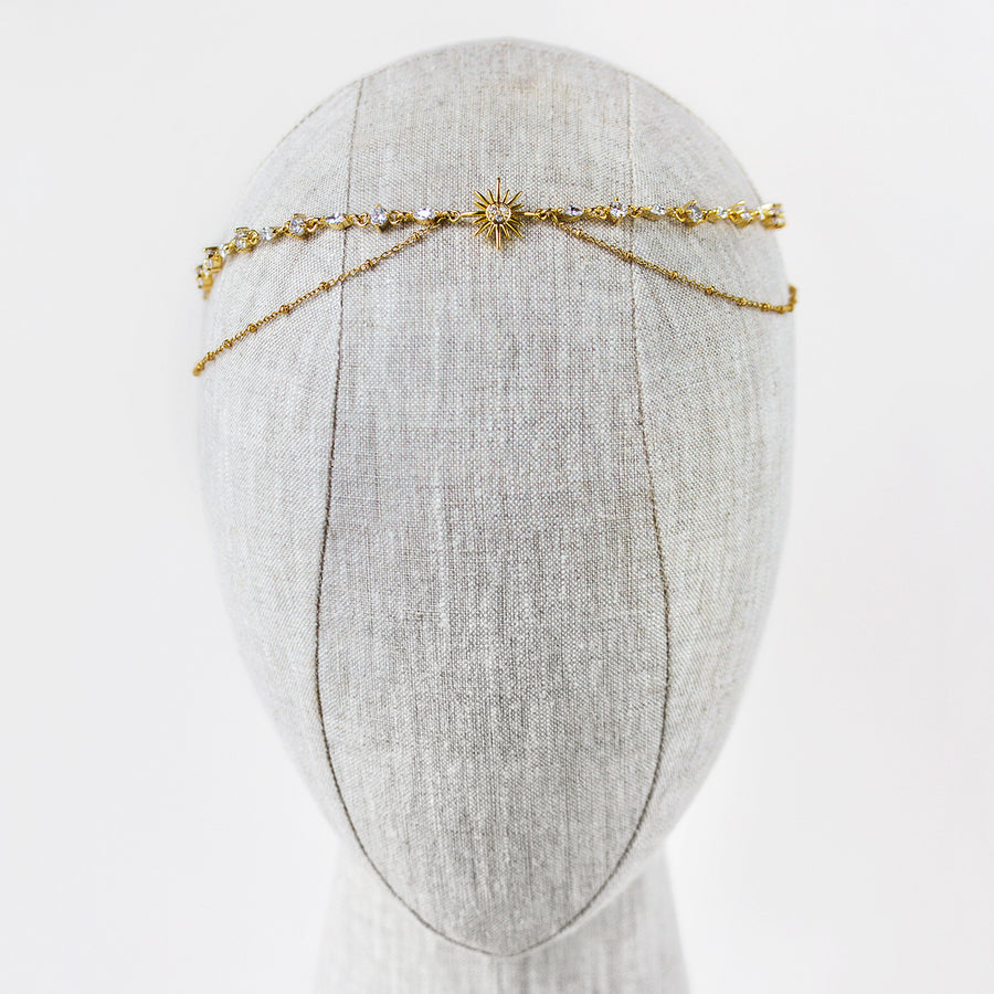Wyn Gold Star Headpiece - Amy O. Bridal
