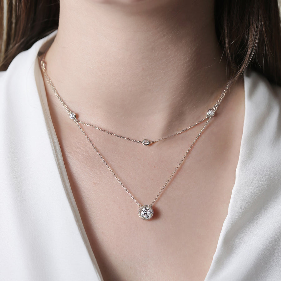 Sophia Round Layered Necklace - Amy O. Bridal