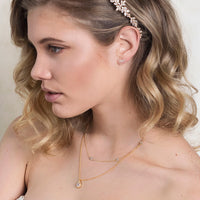 Margaux Teardrop Layered Necklace - Amy O. Bridal