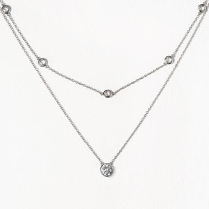 Dakota Crystal Layered Necklace Set