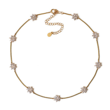 Fleur Crystal Choker Necklace