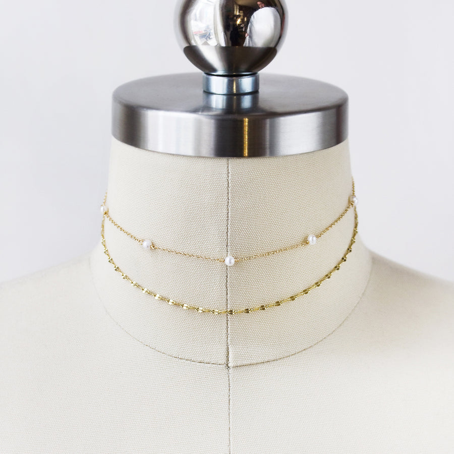 Perla Dainty Layered Choker - Amy O. Bridal