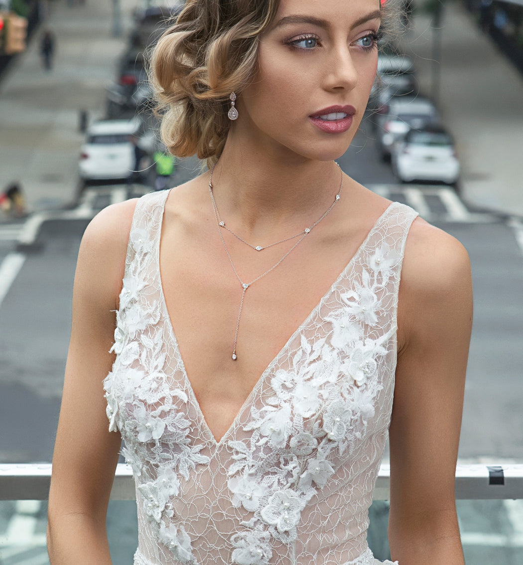 Dakota Choker Lariat Necklace - Amy O. Bridal