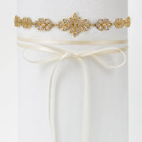 Boho Leaf Crystal Statement Choker - Amy O. Bridal