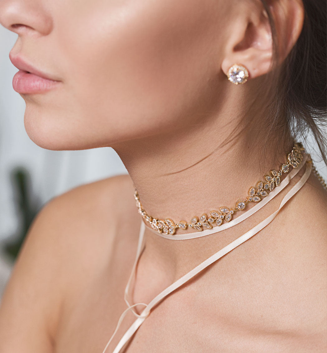 Monet Floral Choker Necklace - Amy O. Bridal