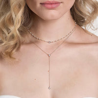 Dakota Crystal Lariat Necklace - Amy O. Bridal