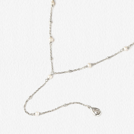 Perla Y Lariat Necklace