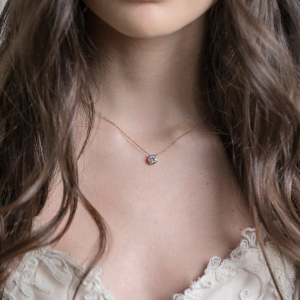 Dakota Solitaire Crystal Pendant Necklace