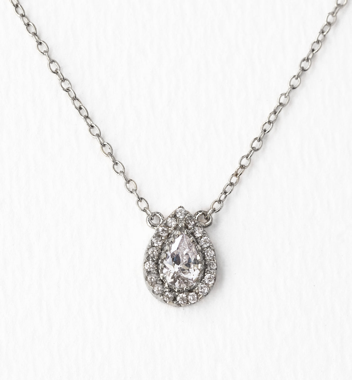 Margaux Petite Teardrop Necklace - Amy O. Bridal