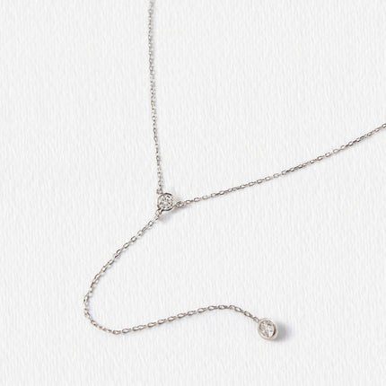 Dakota Crystal Lariat Necklace