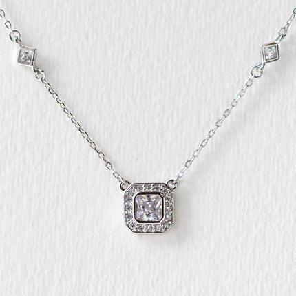 Ella Radiant CZ Pendant Necklace