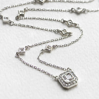 Ella Radiant CZ Pendant Necklace - Amy O. Bridal