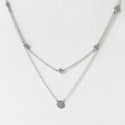 Sophia Halo Layered Necklace