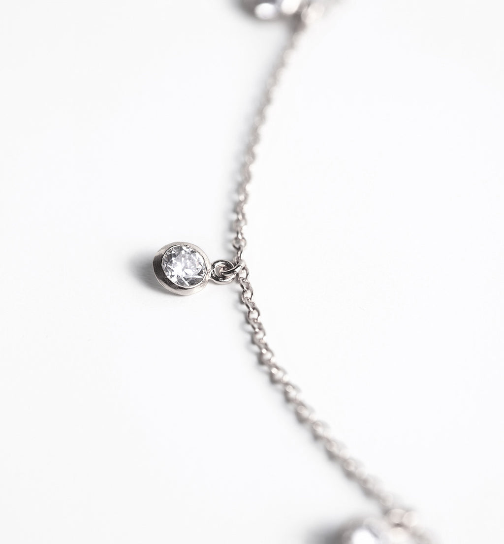 Sienna Silver Dangle Choker