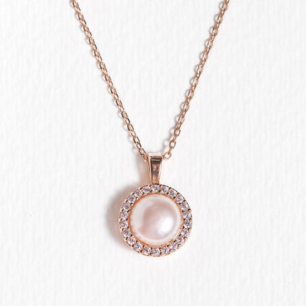 Freshwater Pearl Halo Necklace