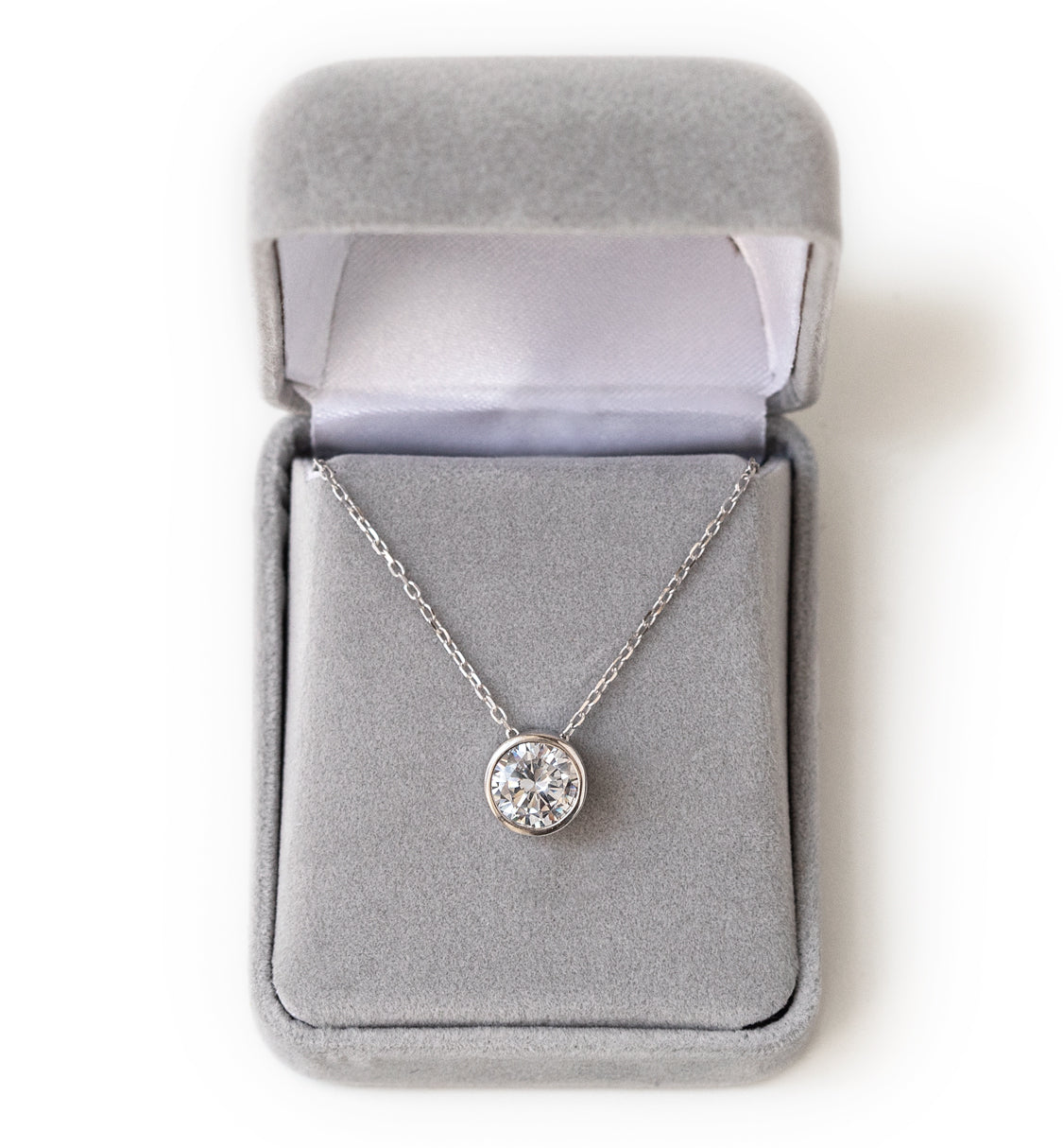 Bridesmaids Gift Solitaire Necklace - Amy O. Bridal