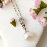 Freshwater Pearl Pendant Necklace - Amy O. Bridal