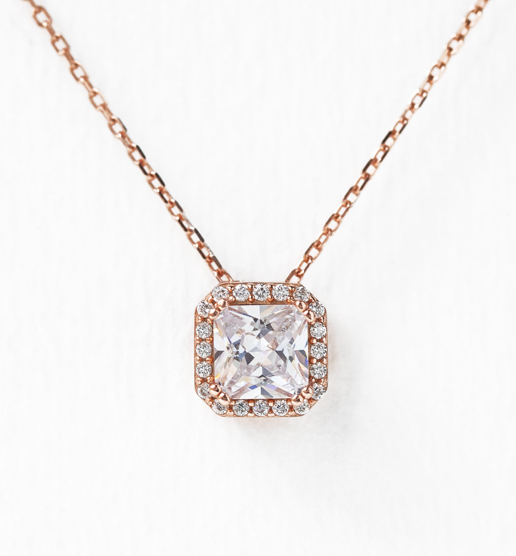 Ella Radiant Pendant Necklace - Amy O. Bridal