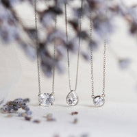 Noelle Solitaire Oval Crystal Pendant