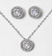 Sophia Halo Jewelry Set - Amy O. Bridal
