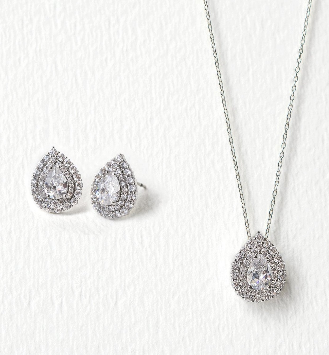Deco Teardrop Jewelry Set - Amy O. Bridal