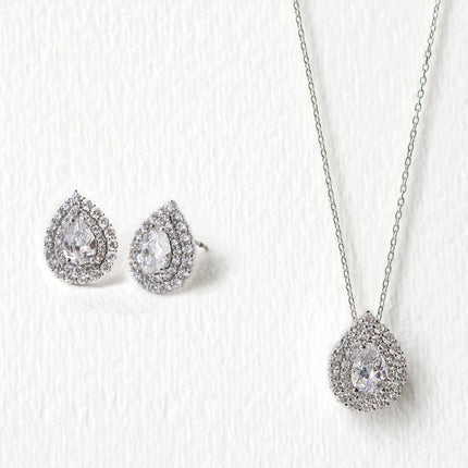 Deco Teardrop Jewelry Set