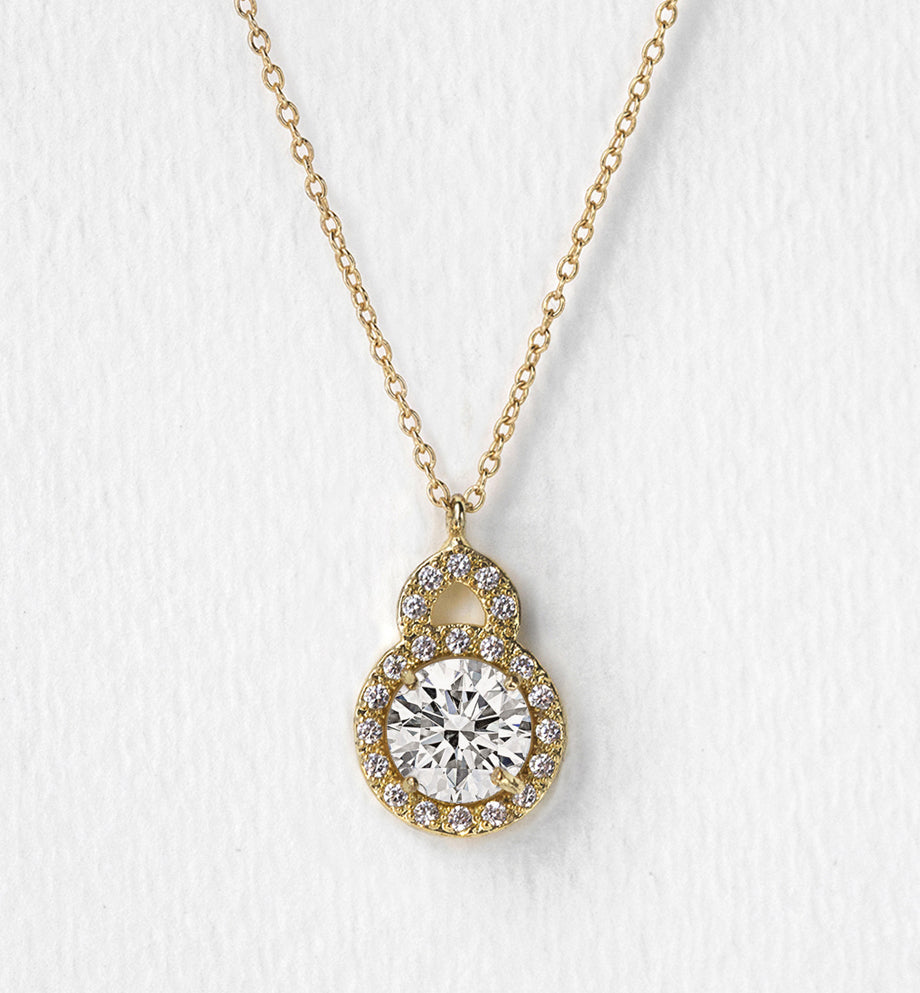 Sophia Crystal Pendant Necklace - Amy O. Bridal