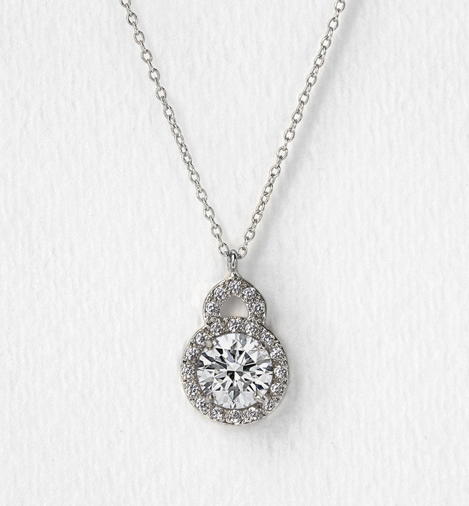 Sophia Silver Pendant Necklace