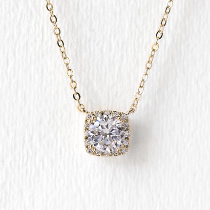 Beau Cushion Pendant Necklace