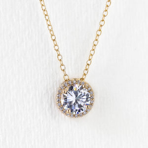 Sophia Round Pendant Necklace