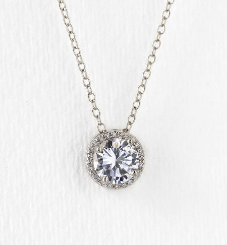 Sophia Round Crystal Pendant Necklace