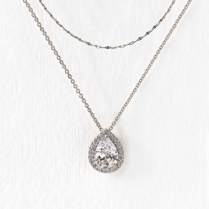 Margaux Teardrop Layered Necklace