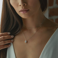 Margaux CZ Back Pendant Necklace
