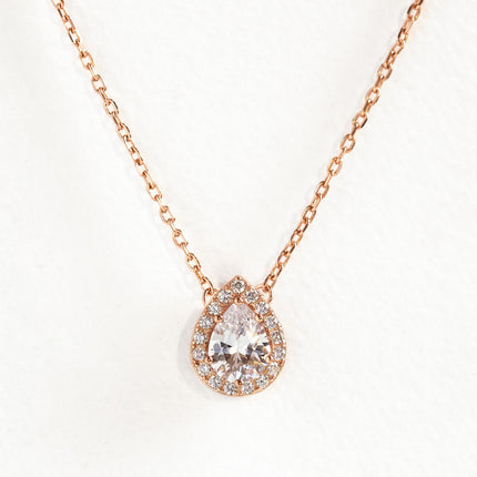 Pear Halo Necklace